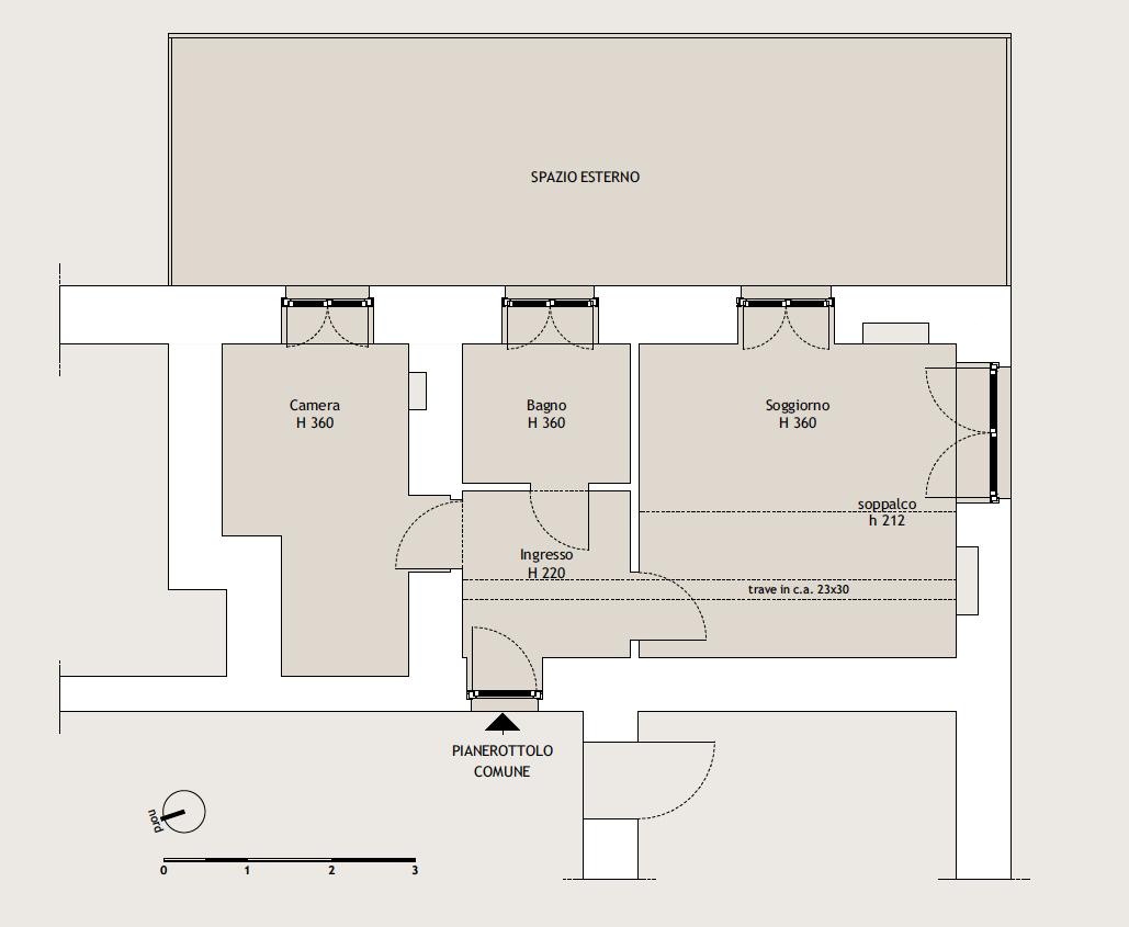 Courmayeur-Larzey, alloggio bilocale vendita diretta